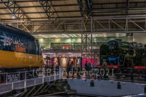 43002 and 92220 Evening Star at the National Railway Museum