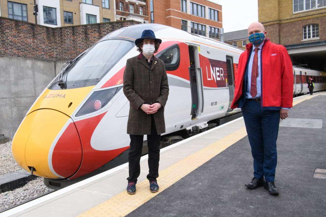 Railway historian Dr David Turner & LNER Safety & Operations Director, Warrick Dent