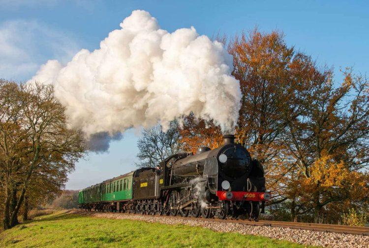 S15 Class loco No. 506 on the Mid Hants Railway