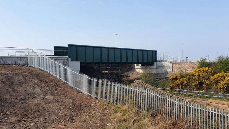 Siddick new footbridge 20 April 2021