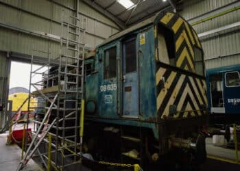 The Class 08 08635 will be the donor shunter for the project