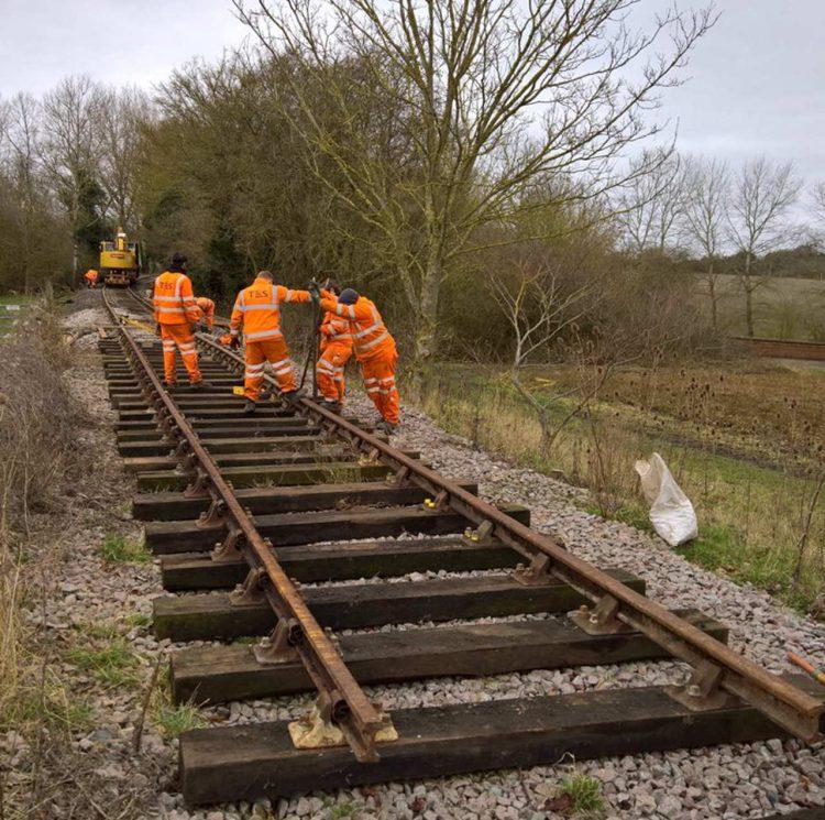 Work Progresses on the Mid Suffolk Light Railway extension