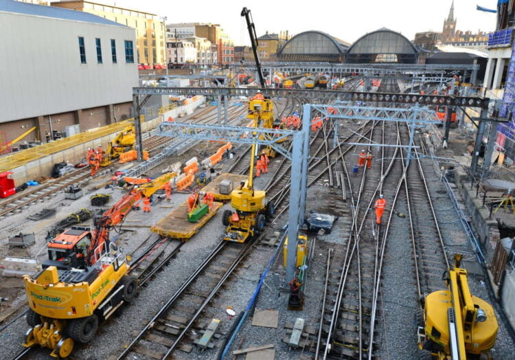 Work to transform track layout at King's Cross