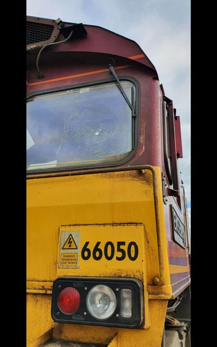 freight train 66050 damaged