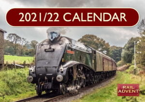 RailAdvent 2021 - 2022 steam train Calendar