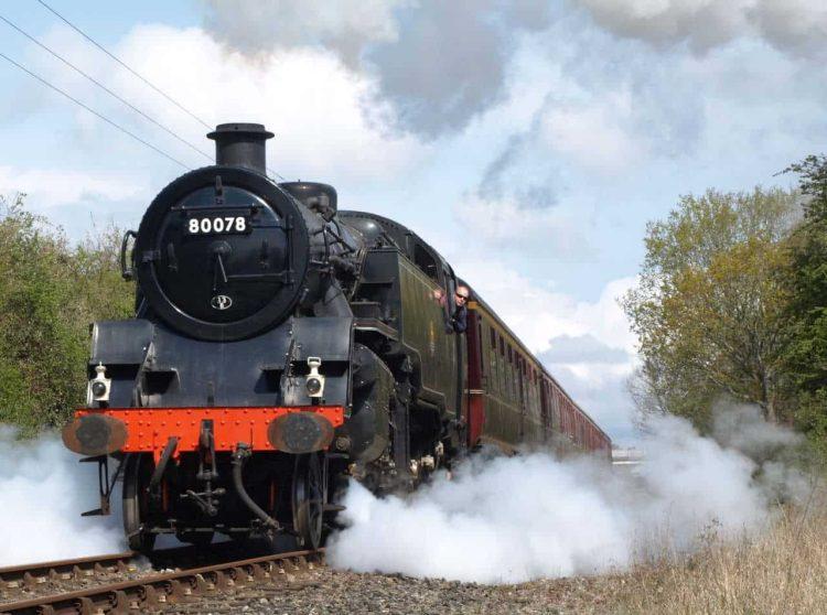 80078 on the Mid Norfolk Railway