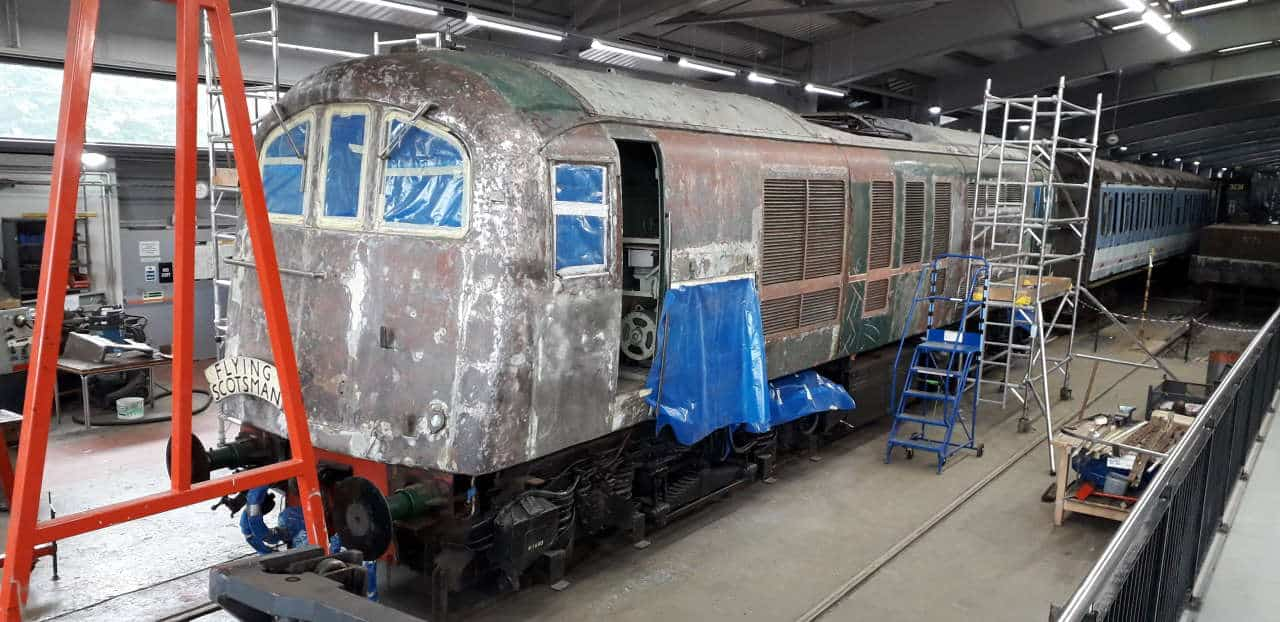 Class 71 Cosmetic Restoration at Locomotion, Shildon in County Durham