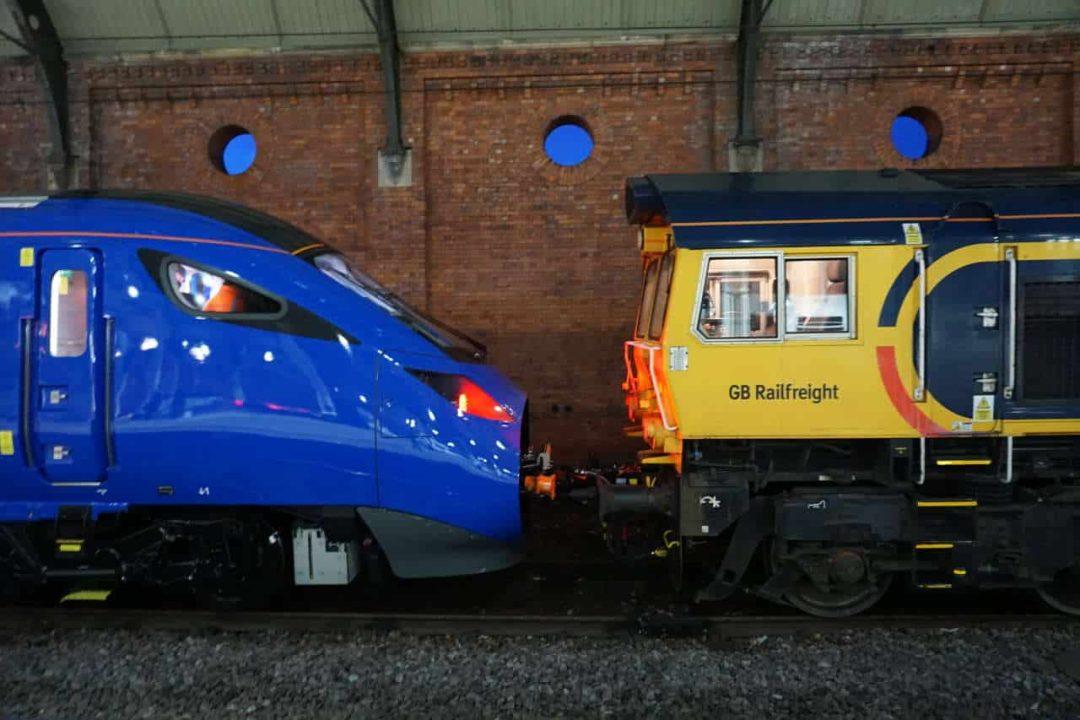 East Coast Trains Class 803 001 on test at Darlington