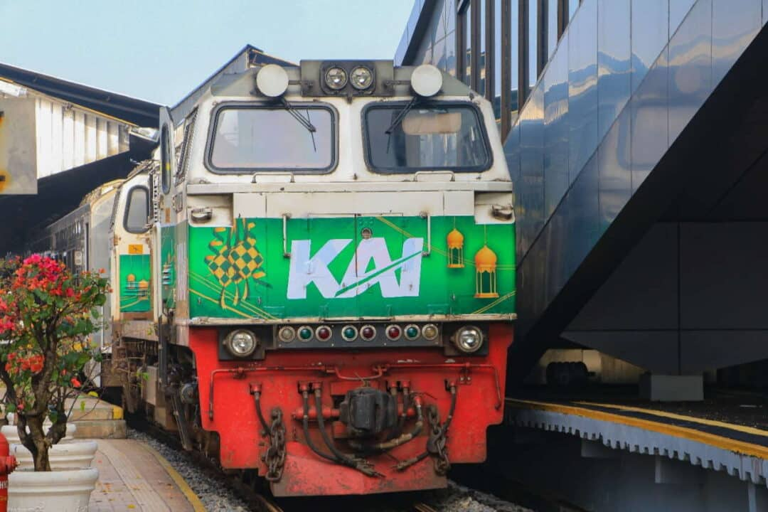 Indonesian Railway locomotive for ramadan