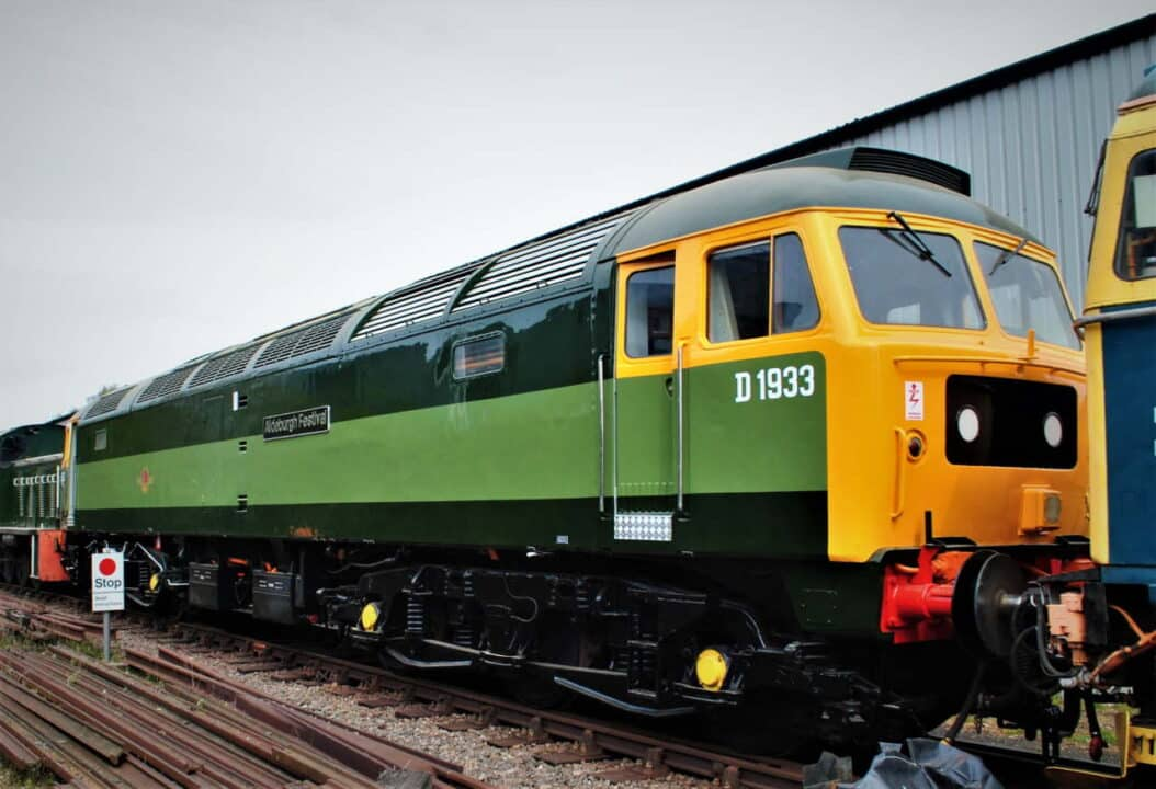 Newly refubished class 47 D1933 Aldeburgh Festival