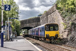 Northern's 150106 and 150136 arrive at Burnley Manchester Road
