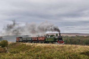 Lambton 29 runs past Moorsgates, North Yorkshire Moors Railway