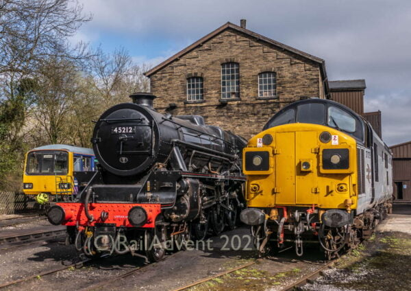 45212, 37075 and 144011 at Haworth, Keighley and Worth Valley Railway