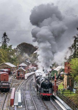 91234 departs Goathland, North Yorkshire Moors Railway