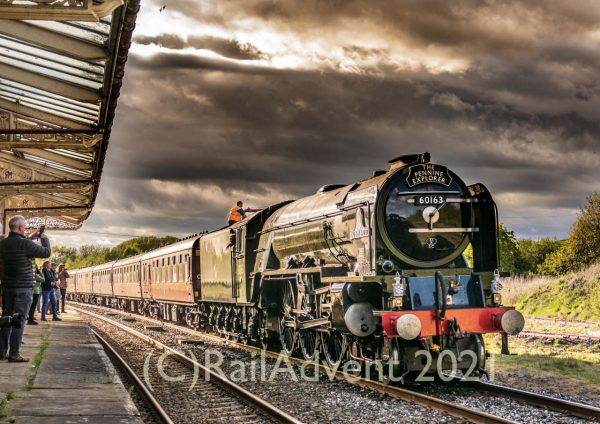 LNER A1 60163 Tornado stands at Hellifield