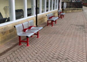 The new seating area