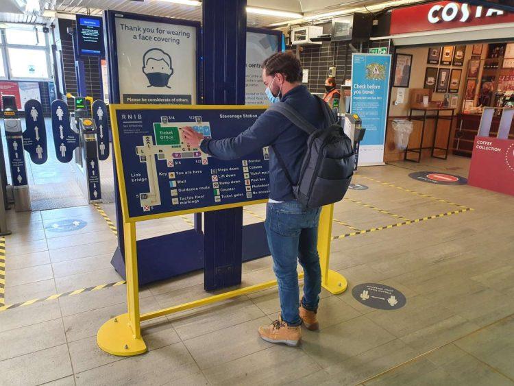Stevenage station new tactile map