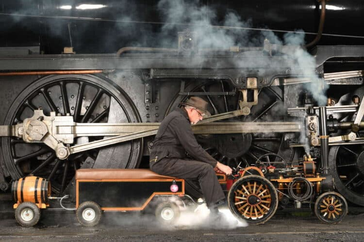 Traction engine at the Mid Hants Railway