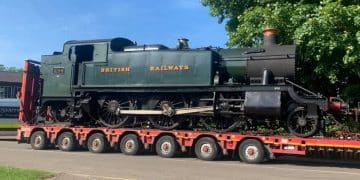 4144 arriving at the Nene Valley Railway