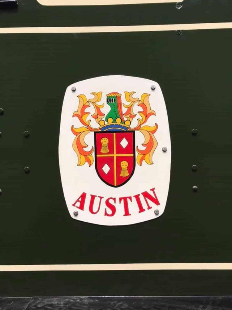 Austin crest on locomotive Austin 1