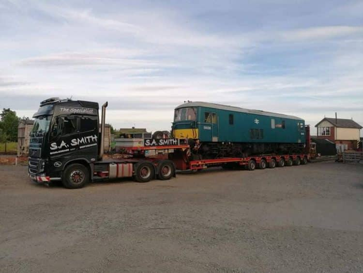 Class 73 arrives at Cambrian Heritage Railways