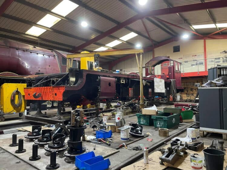 5551 The Unknown Warrior at West Shed under construction