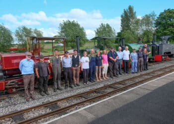 Some of the volunteers at the Amerton Railway Steam Gala