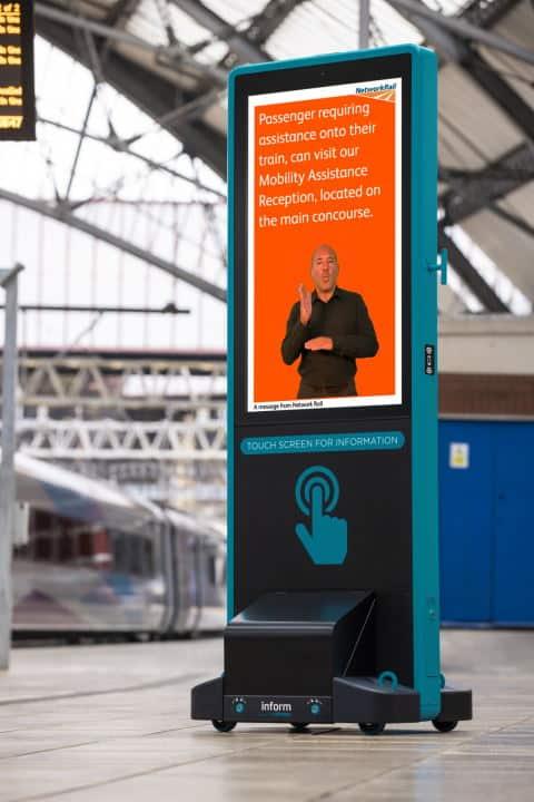 British Sign Language Totem at London Euston railway station
