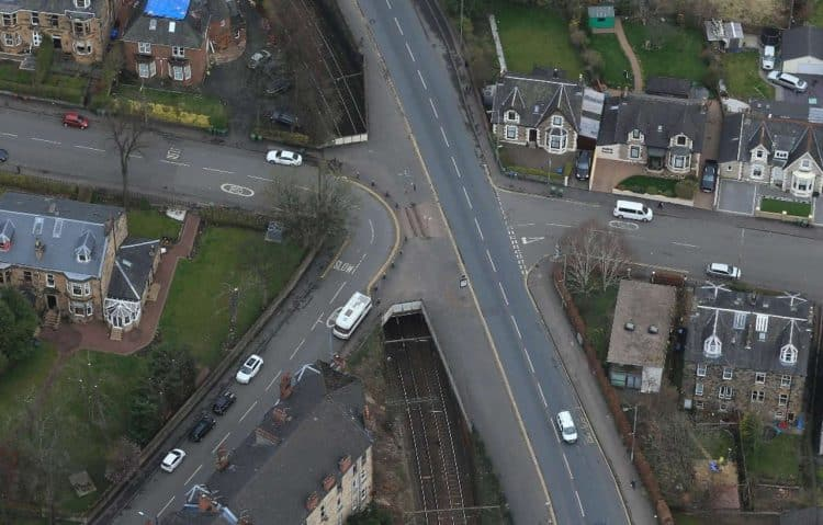 Crosshill bridges aerial
