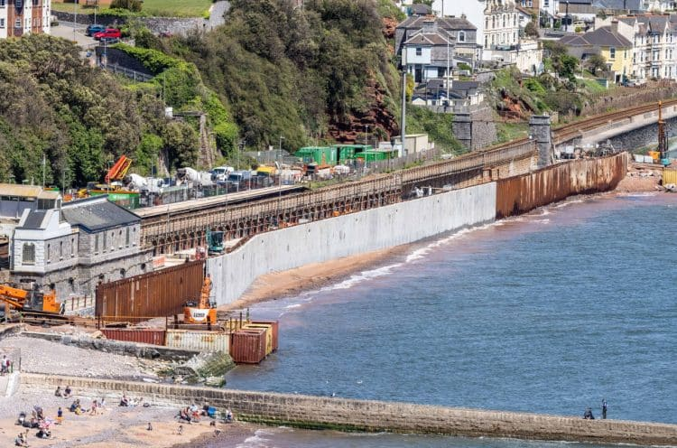 Progress on Dawlish sea wall