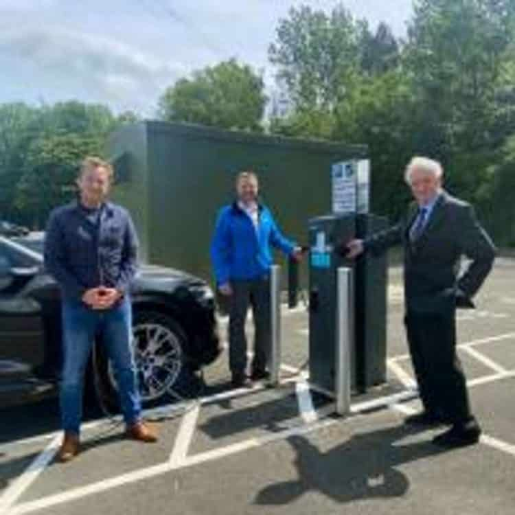 Electric charinging points at Heworth interchange