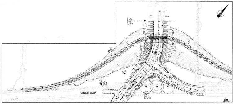 Drawing of diversion to the Leighton Buzzard Railway