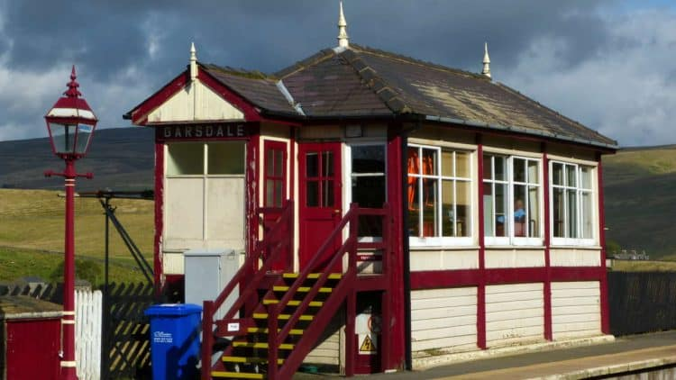 Garsdale signal box - picture credit Mark Harvey from Friends of Settle to Carlisle Line