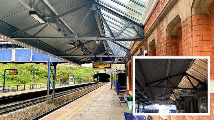 Gerrards Cross station upgrade new vs old (inset)