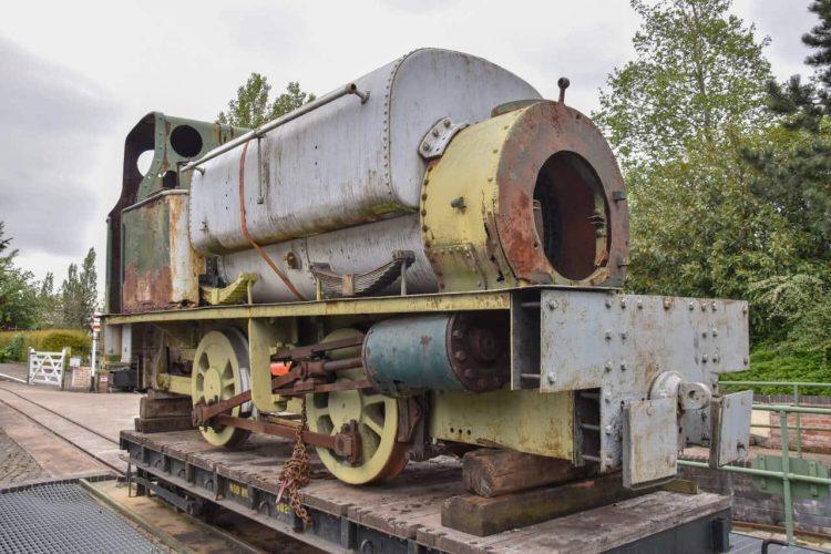 Handyman arrives at the Statfold Barn Railway