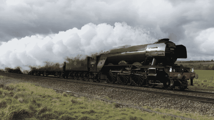 Flying Scotsman on a mainline tour