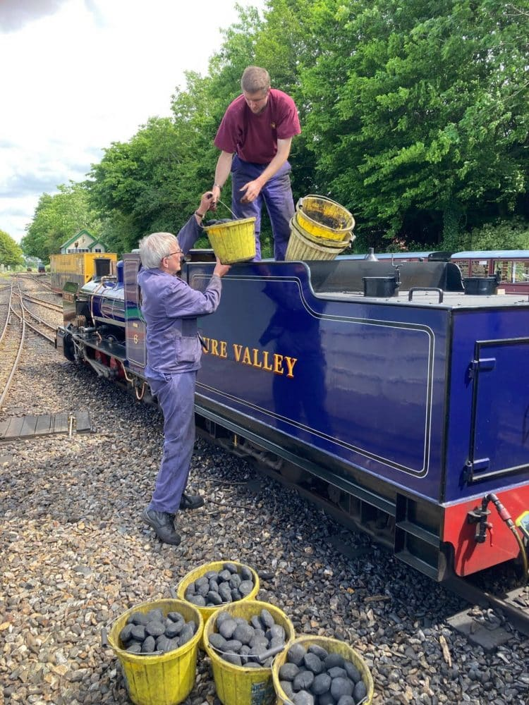 Biocoal test at the Bure Valley Railway