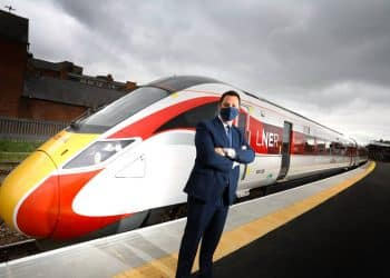 Mayor Welcomes Azuma Training Following Completion of Middlesbrough Station Platform Work