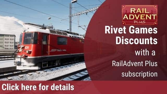 Rivet Games discounts RailAdvent Plus
