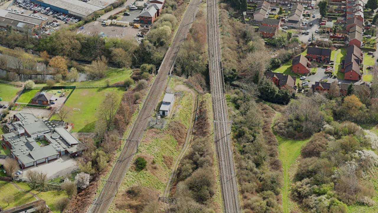Stechford Railway Viaducts Overhead View