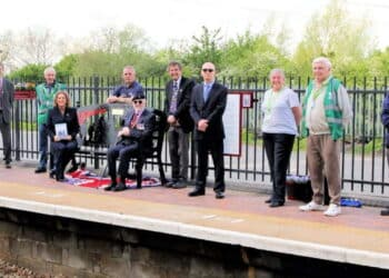 The memorial bench at Millbrook station