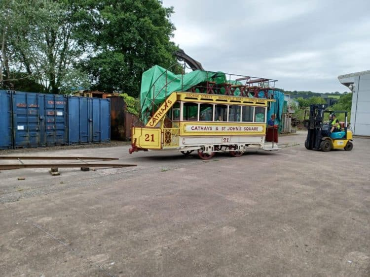 Unloading at Cardiff // Credit Crich Tramway Museums