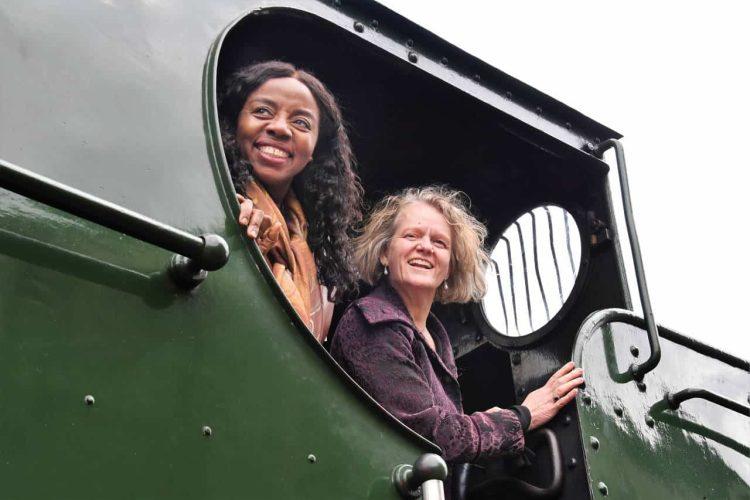 Audrey Ezekwesili (L) Arabella Nairn (R) non-executive director trustees Vintage Trains