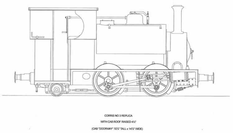 Drawing for Falcon locomotive