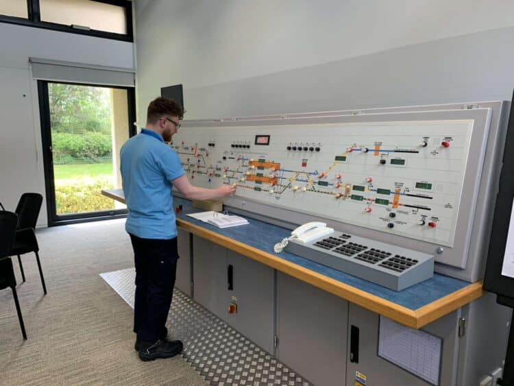 3000th apprentice takes up his station at Suffolk signal box