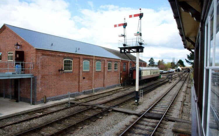 New volunteer building at Toddington station