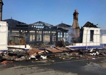 Troon station after major fire