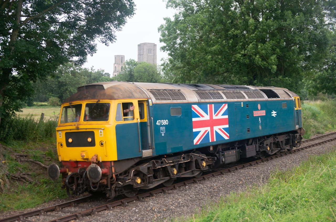 47580 on the Mid Norfolk Railway