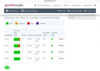 Less Busy Trains Greater Anglia