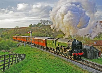 60163 Tornado at Abbots House, south of Goathland